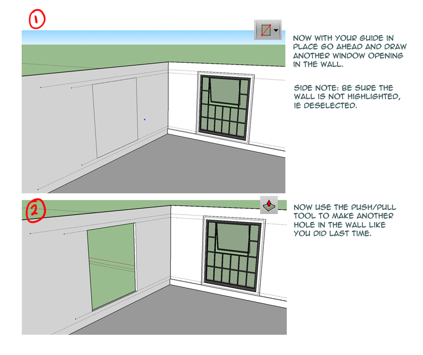 how to create a box on sketchup