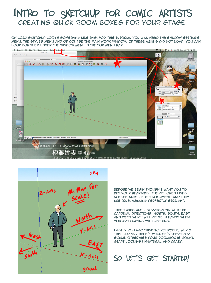 Sketchup Roombox Tutorial for Comic Artists – Beginner Level ... on rain barrels, rain gutter downspout design, rain gardens 101, rain harvesting system design, french drain design, dry well design, gasification design, rain illustration, rain construction, rain water design, bioswale design, rain art drawings, rain roses,